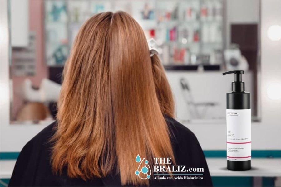 Alisado de pelo con ácido hialurónico